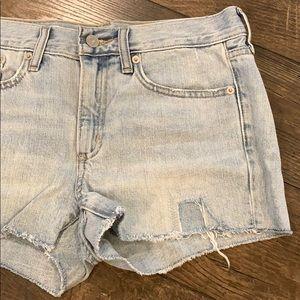 GAP Patch Cut Off Slim Denim Shorts